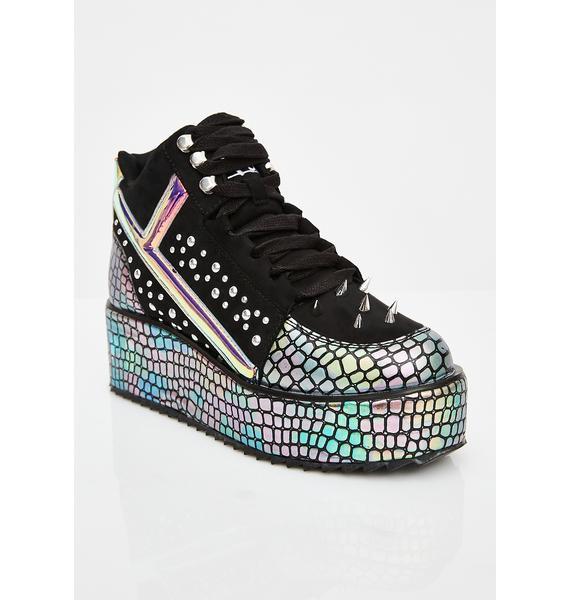 Y.R.U. Qozmo Lo Dragon Hologram Sneakers