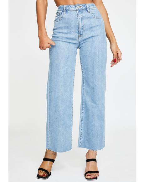 Aberdeen Wide Leg Cropped Jeans