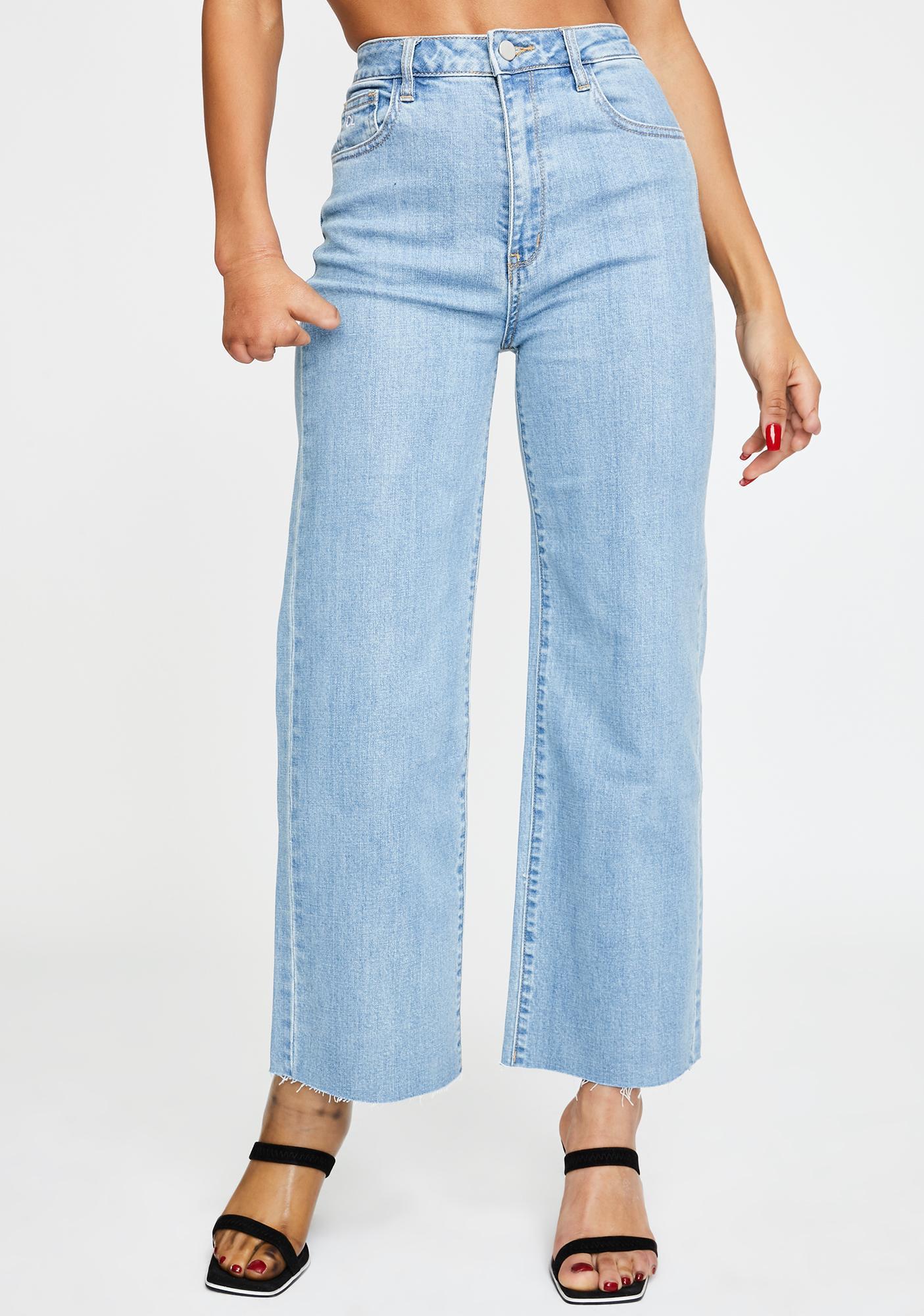 Oliver Logan Aberdeen Wide Leg Cropped Jeans
