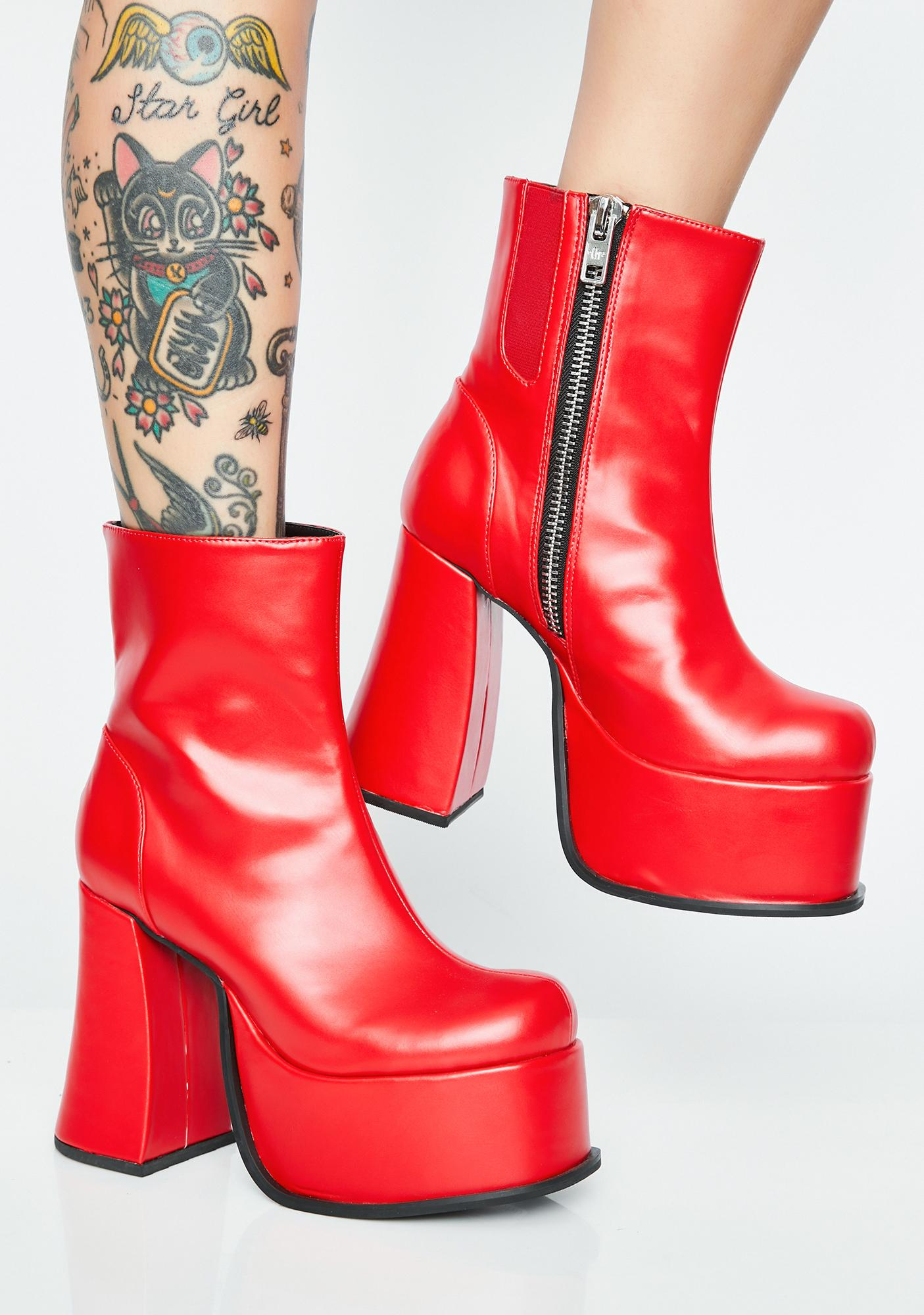 Current Mood Glam Rock Platform Boots