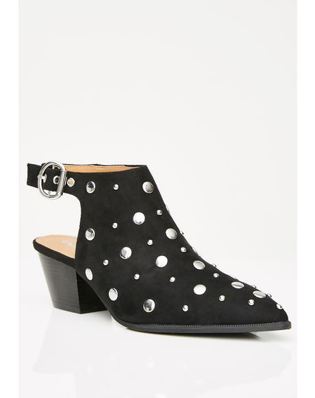 Full Of Mystique Studded Booties