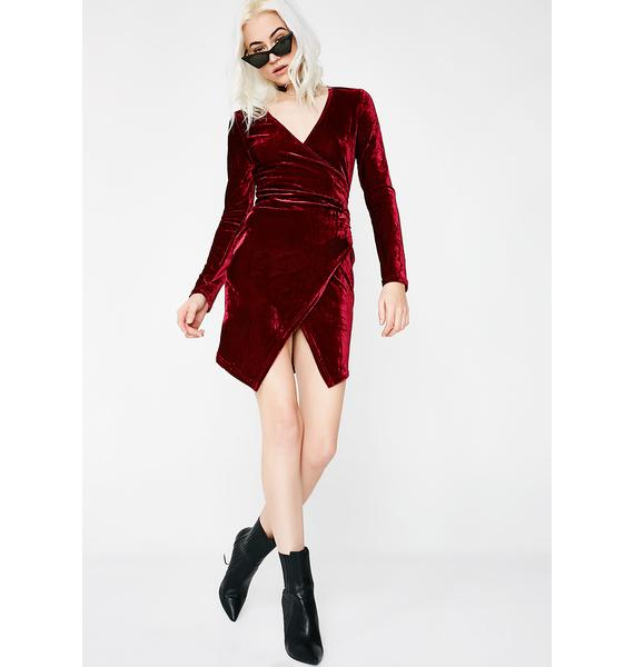 Smokin' In The Boyz Room Velvet Dress