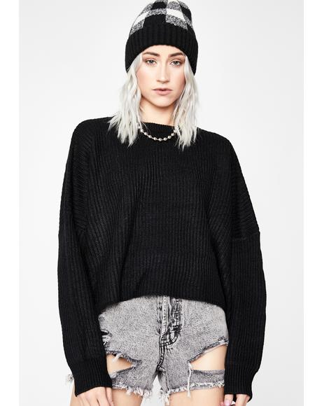 Realer Than Real Crop Sweater