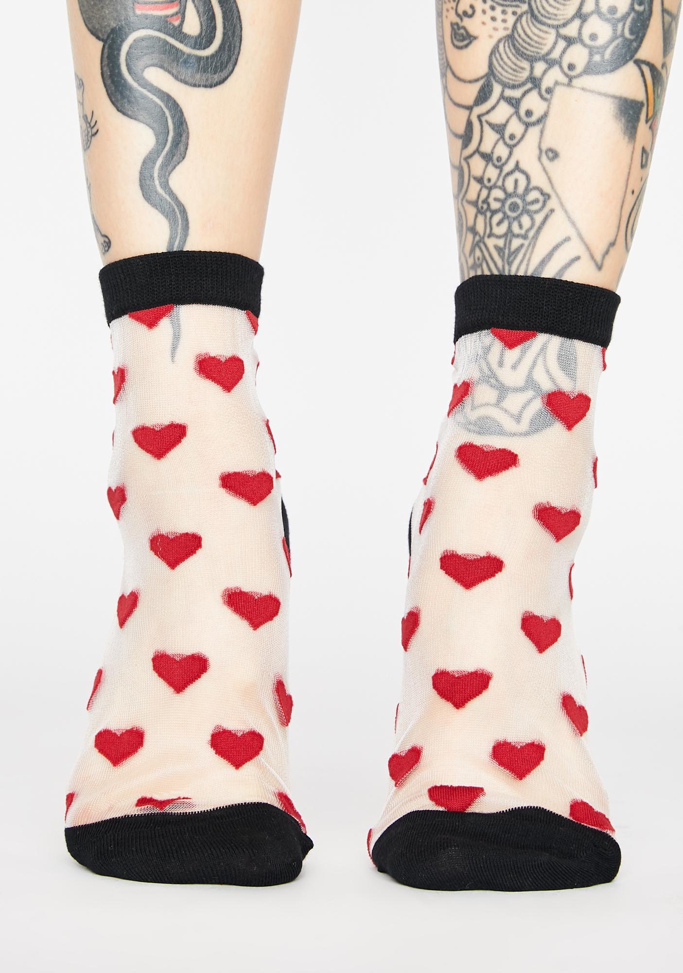 MeMoi White Sheer Ankle Socks