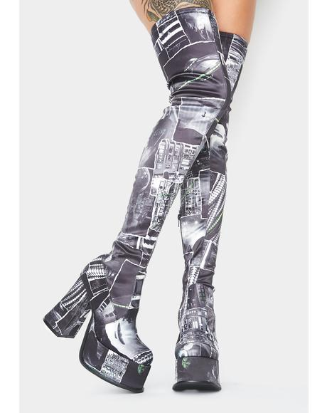 Interstellar Memories Thigh High Boots