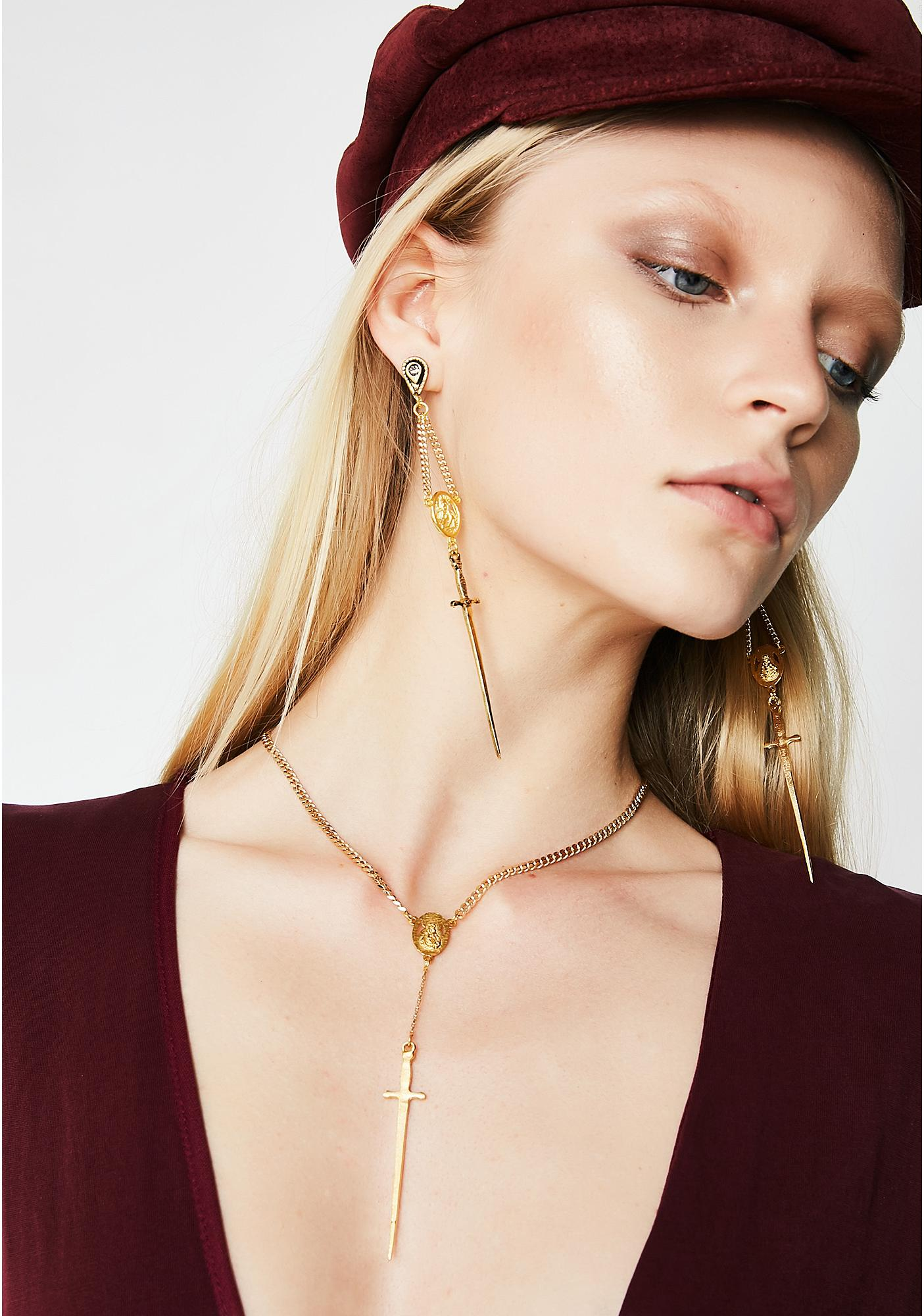 Vanessa Mooney The Gold Amparo Rosary Necklace