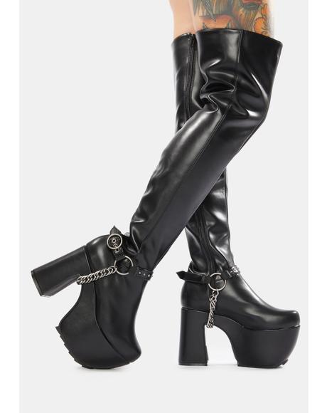 City Thigh High Platform Boots