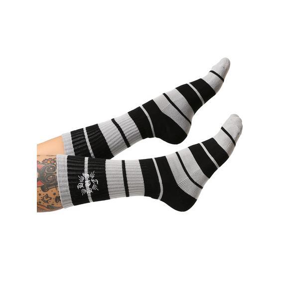HUF Charlie Don't Skate Crew Sock