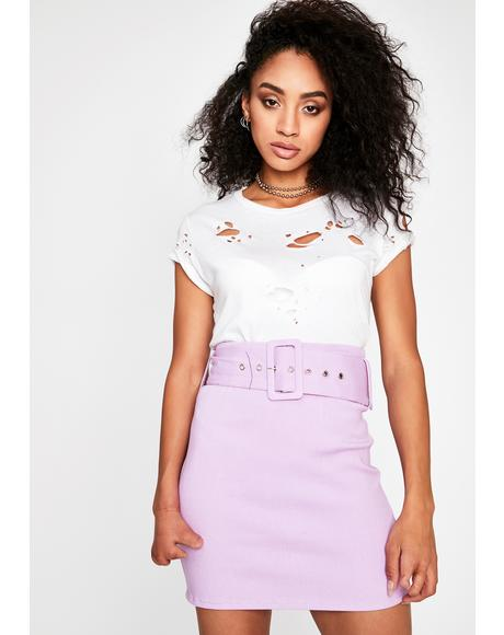 Guilty Gossip Belted Skirt