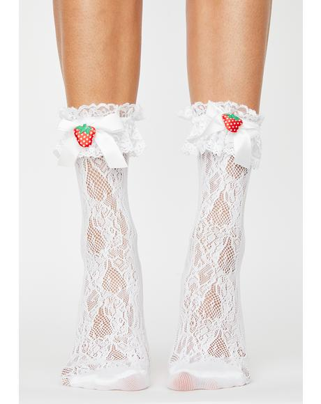 Pure Sweet Dependence Lace Socks