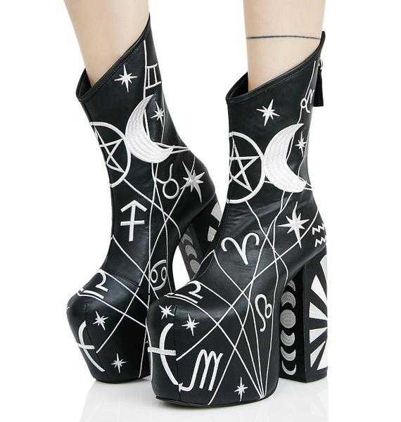Current Mood Zodiac Platform Boots