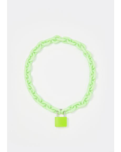 Cyber Children Lock Necklace