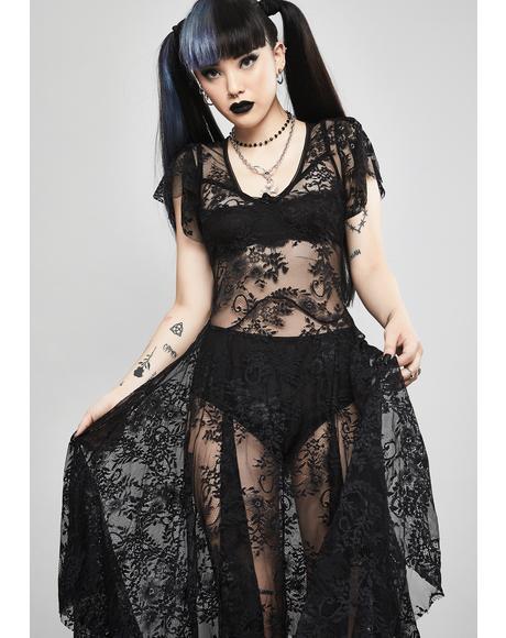 Noir Dearly Departed Lace Dress