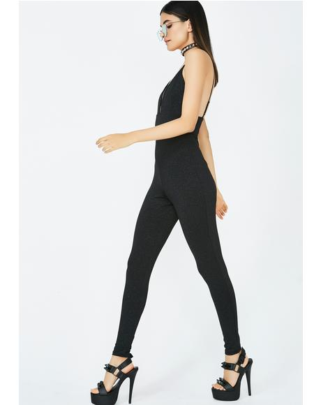 Best Bet Plunging Jumpsuit