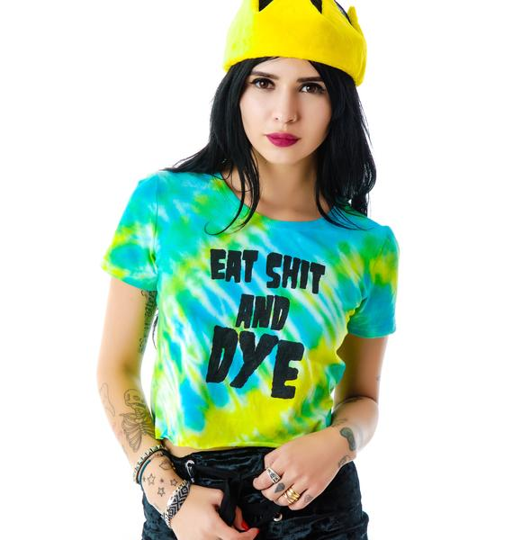 The Ragged Priest The  Eat Shit And Dye Cropped Tee