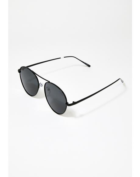 Black Smoke Ahoy Aviator Sunglasses