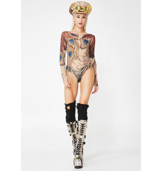 Kiki Riki Peacockin' Princess Bodysuit