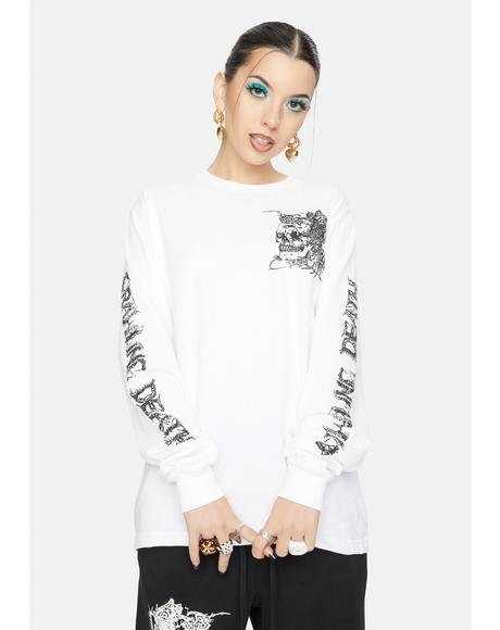 Parasite Skull Long Sleeve Tee