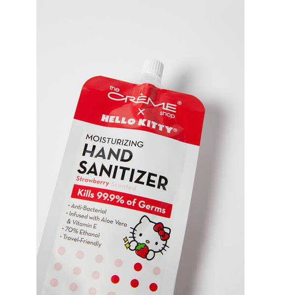 The Crème Shop Strawberry Hello Kitty Sanitizer In Pouch