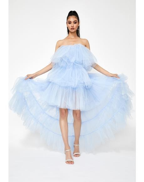Certainly Privileged Tulle Maxi Dress