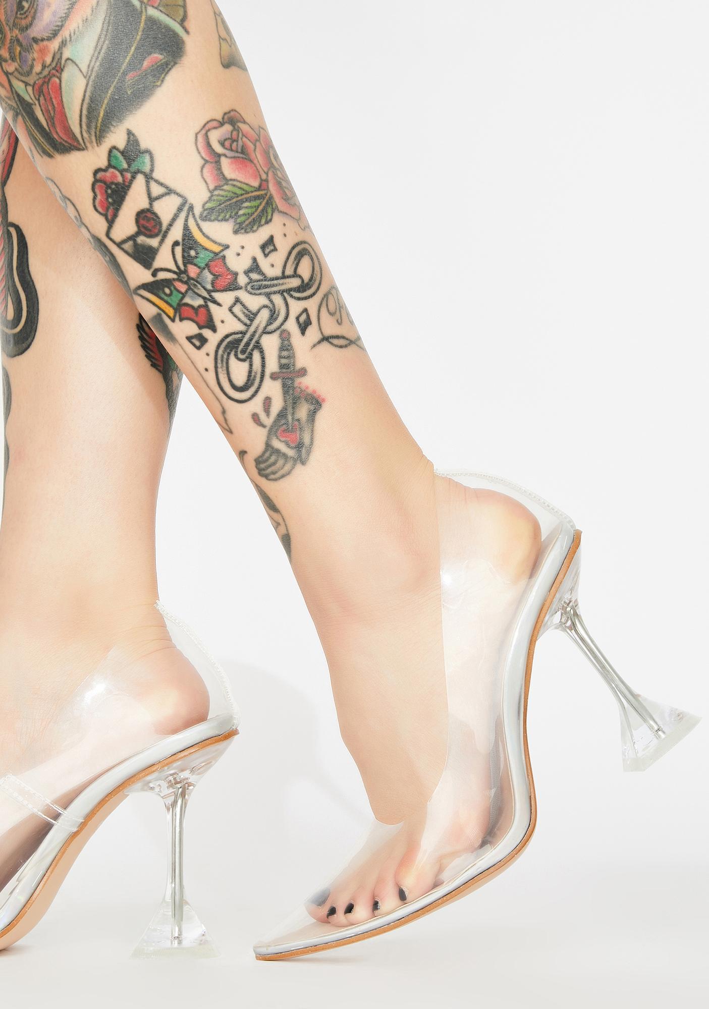 Public Desire Maison Clear Heels