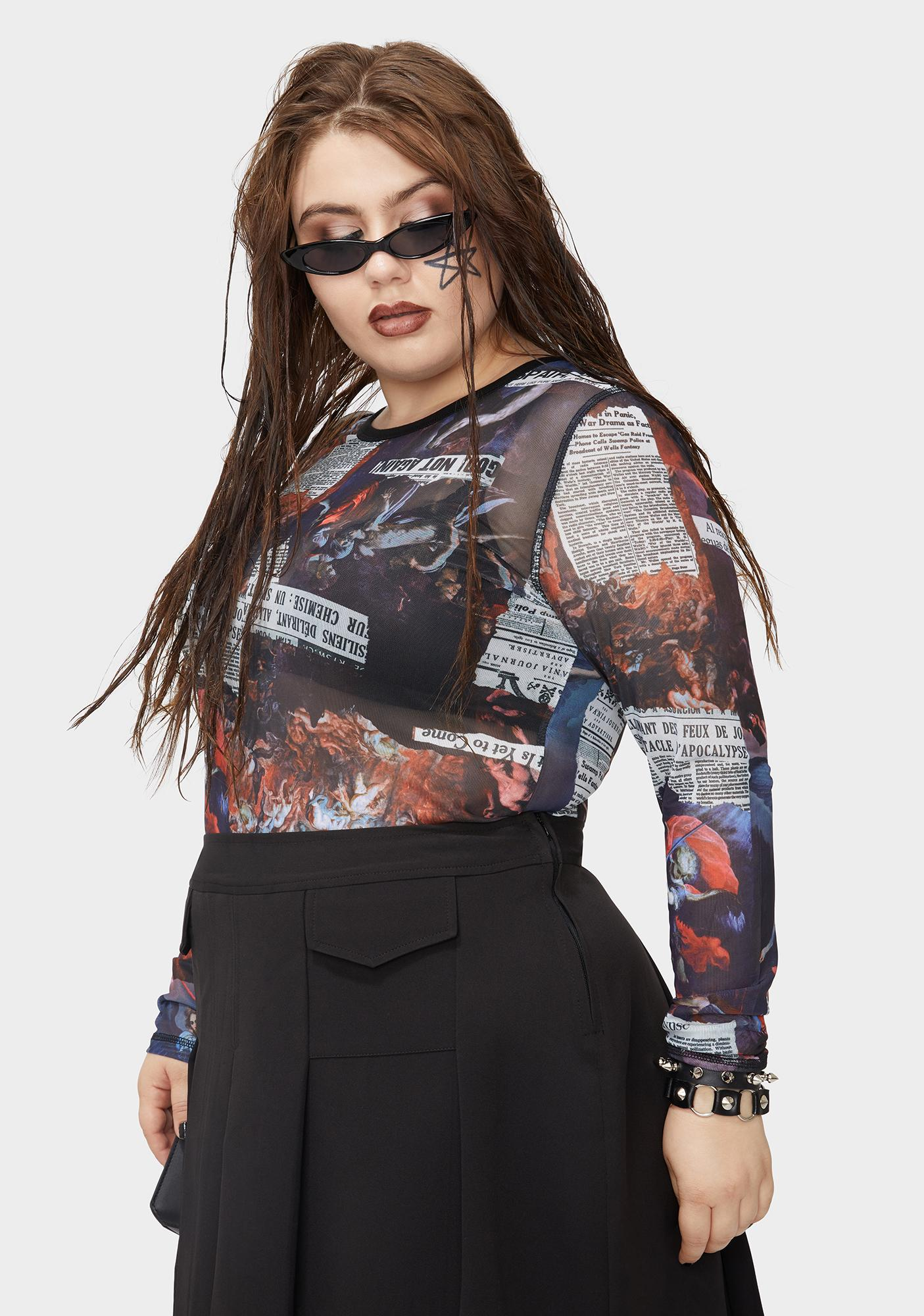 Current Mood Fierce Tales Of Chaos Mesh Top