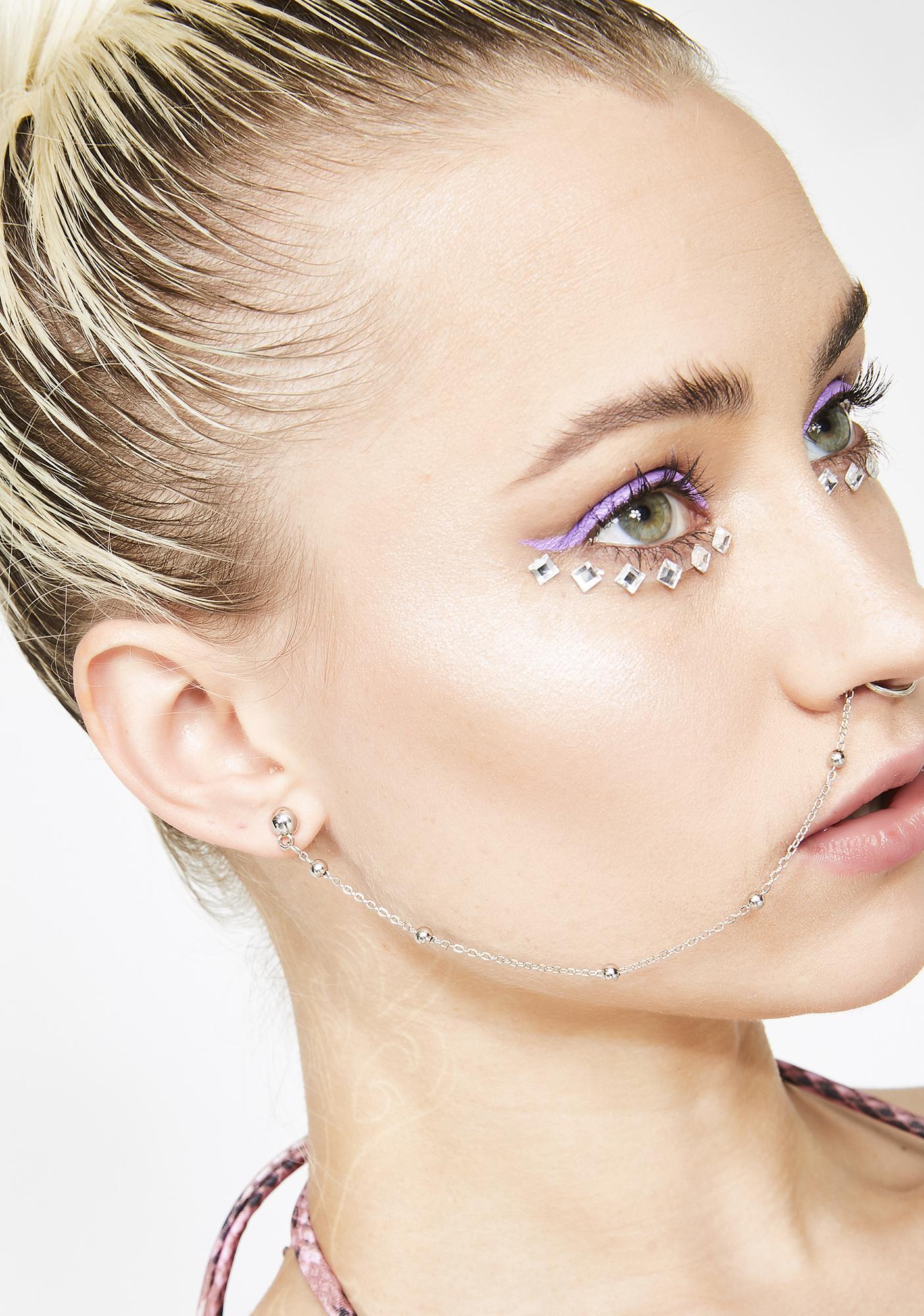 Silver Septum Chain Earring Dolls Kill