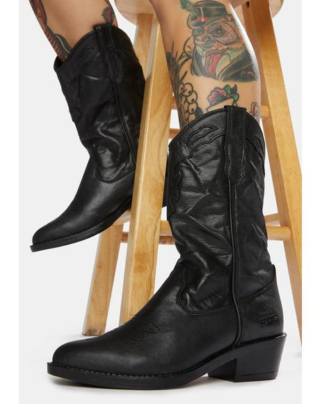 Indio Vintage Leather Cowboy Boots