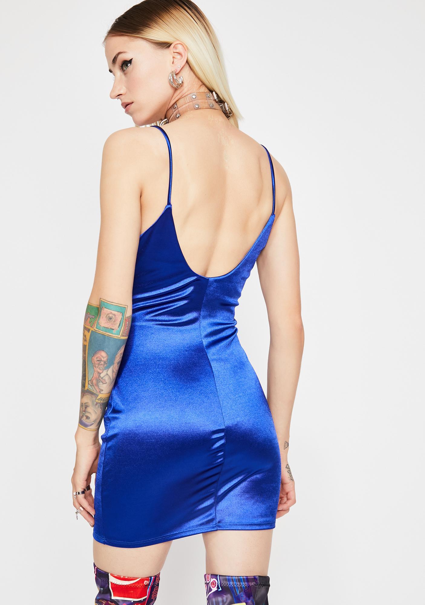 Berry Circuit Cascade Bodycon Dress
