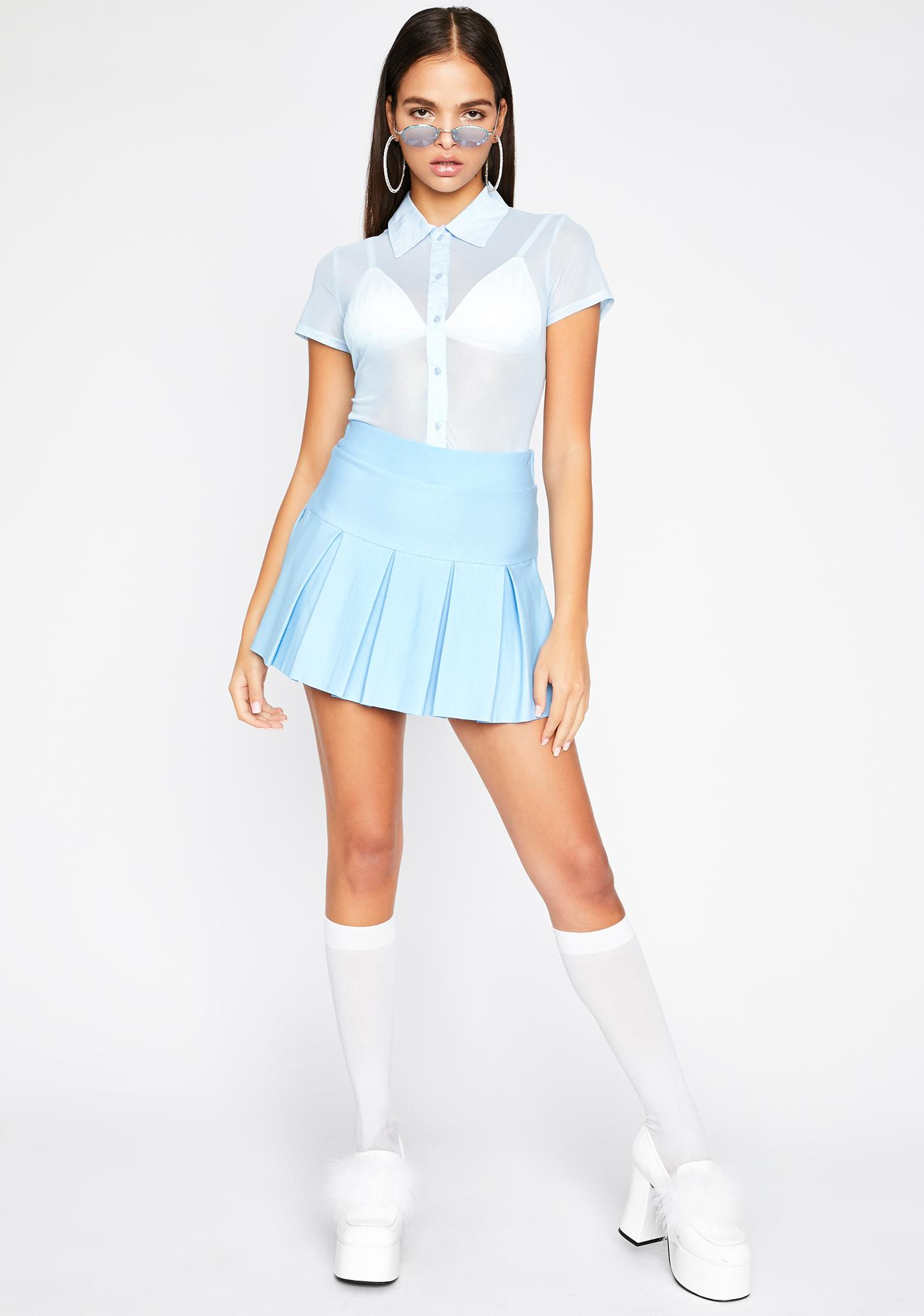 Chill Wicked Scholar Pleated Mini Skirt