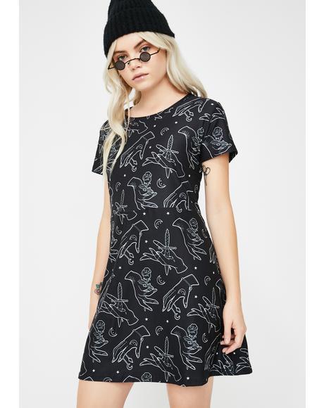 Gypsy Hands A-Line Mini Dress