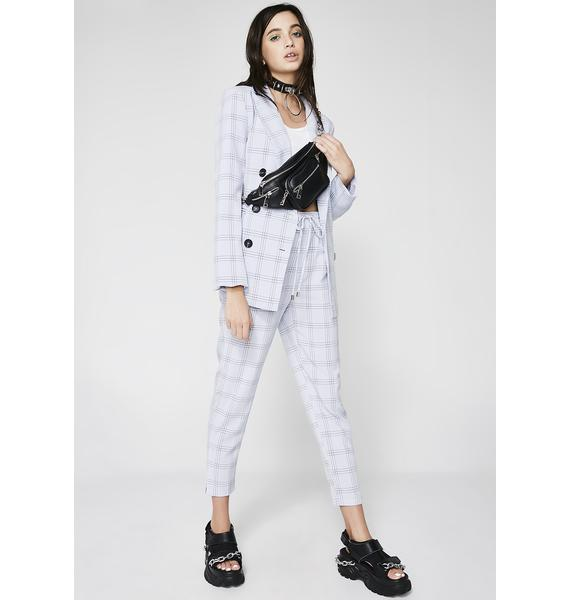 Down To Business Plaid Trousers