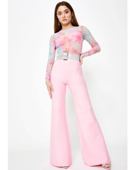 Pink Sylvia Flared Pants