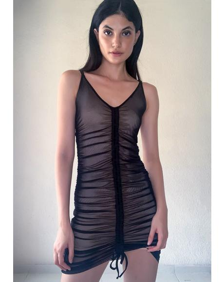 Baddie Swipe Right Mesh Dress