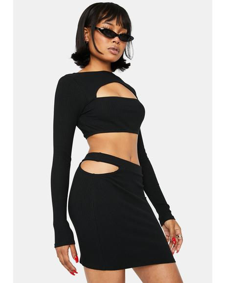 Break The Internet Cut-Out Skirt Set