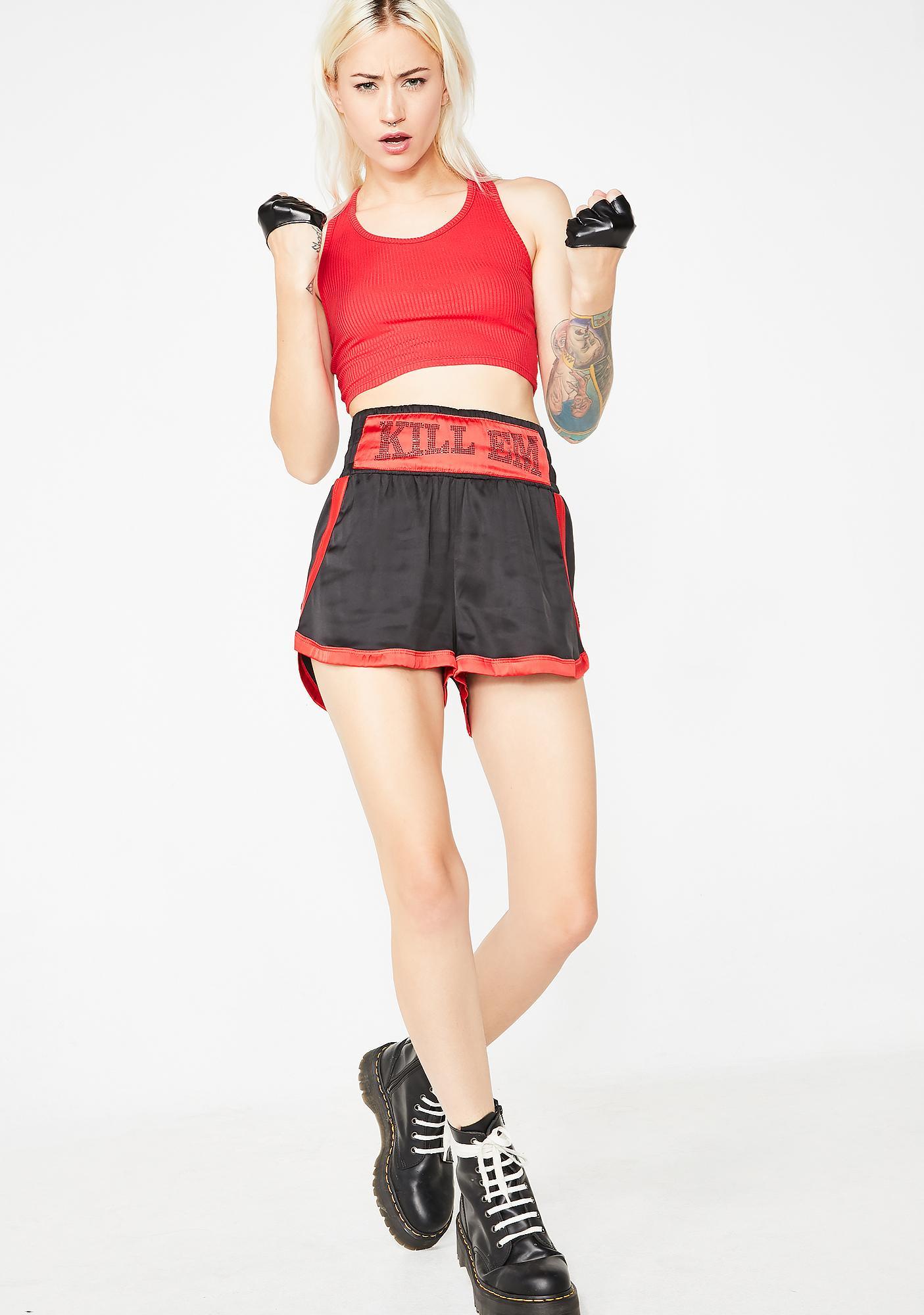 Kiki Riki Kill Em Boxing Shorts