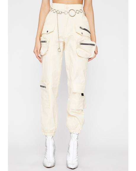 Beige Ultimate Flex Cargo Pants