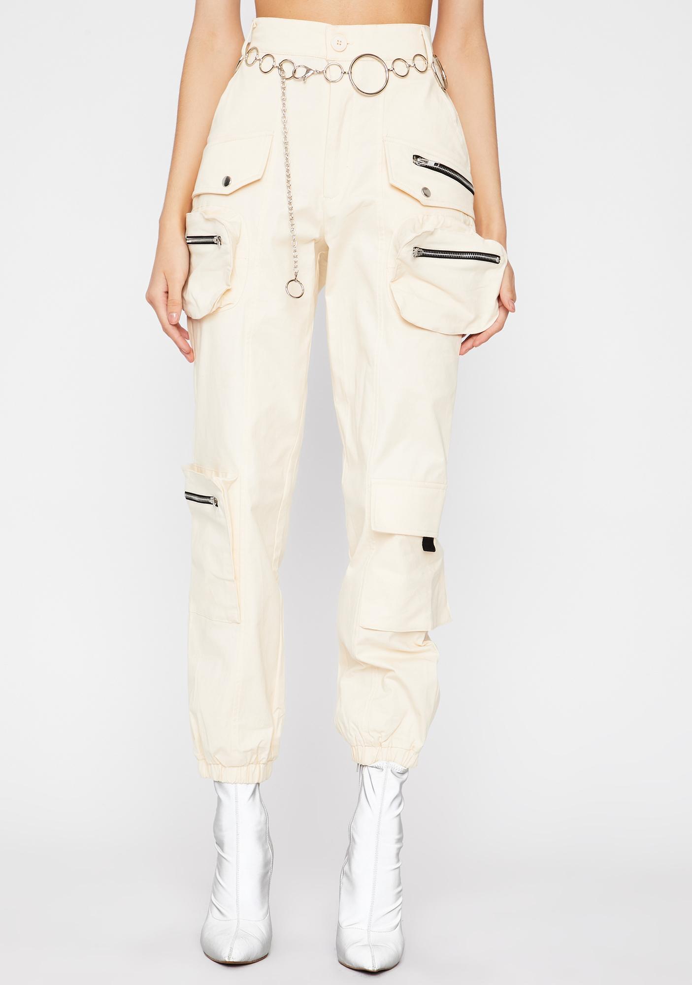 Beige Ultimate Flex Cargo Pants