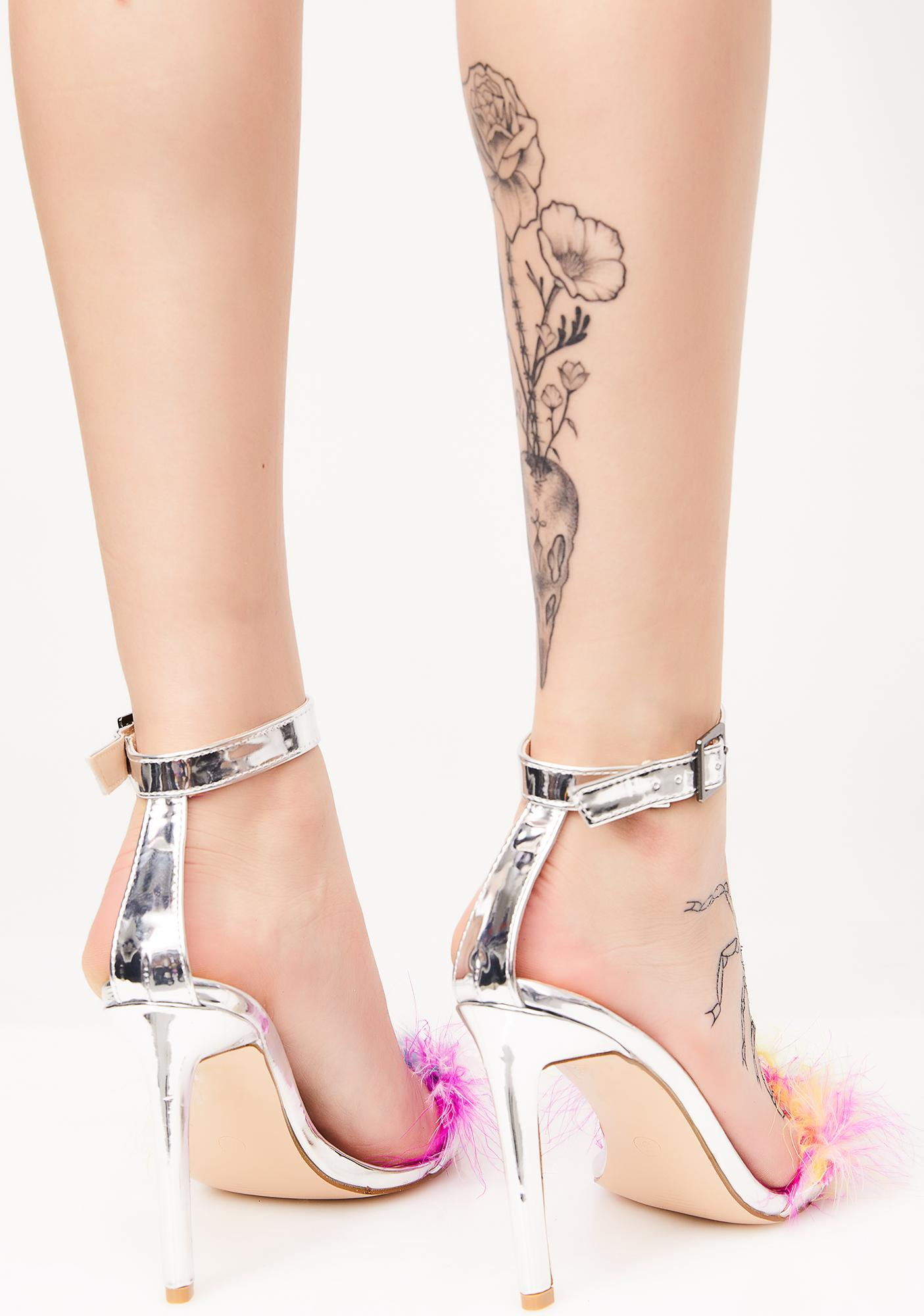 Public Desire Chemistry Feather Barely There Heels