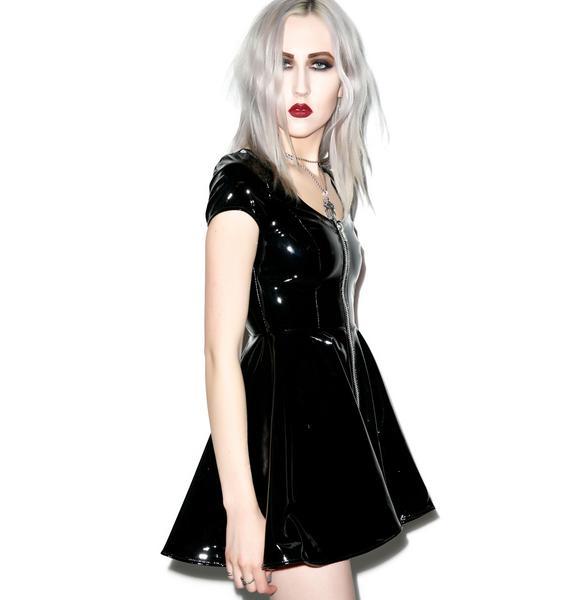 Lip Service Sumthin' Sexy Classic Vinyl Dress