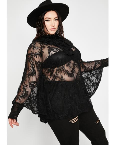 Plus Immortal Beauty Lace Tunic