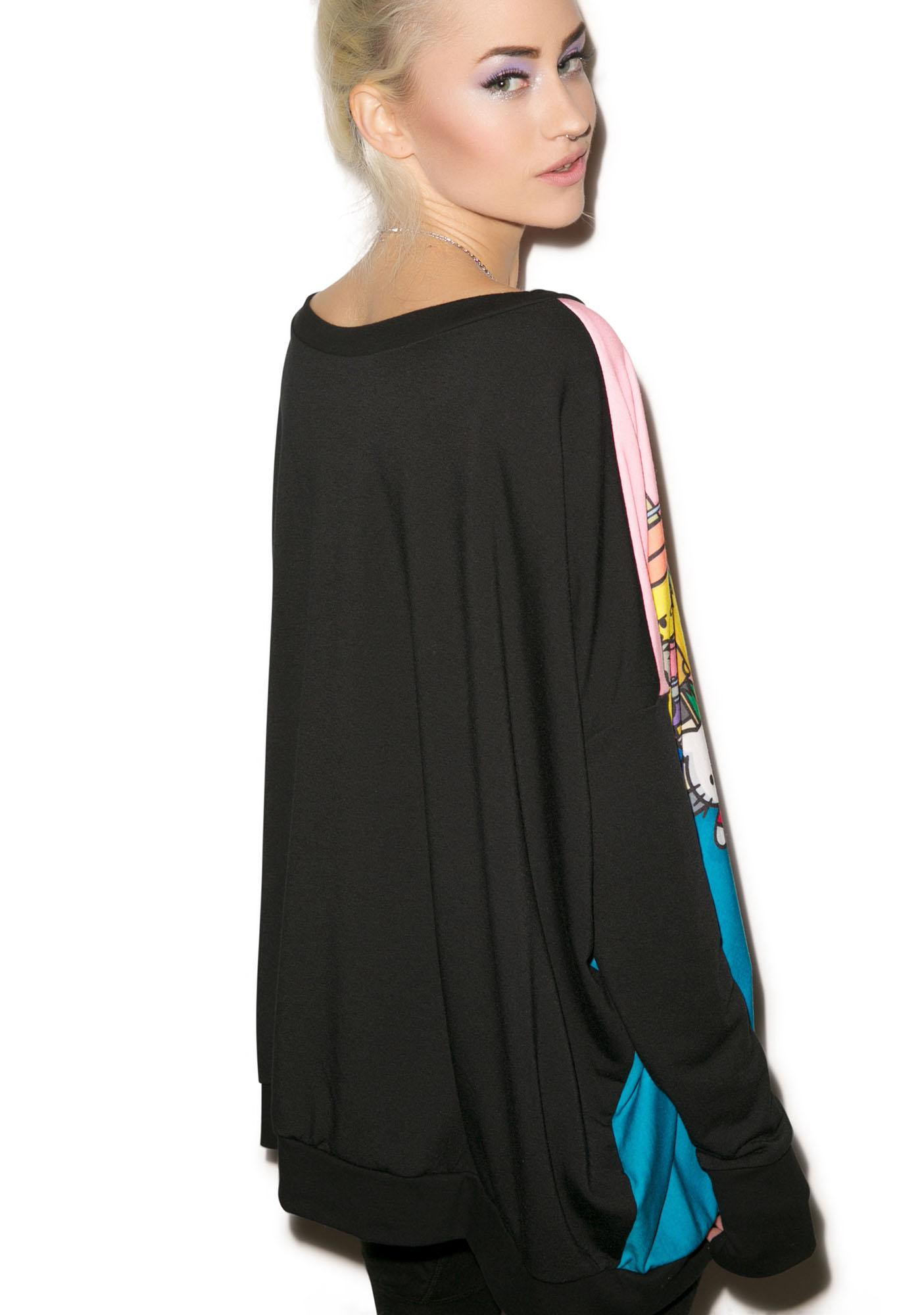 Japan L.A. The Couch Party Poncho Sweater
