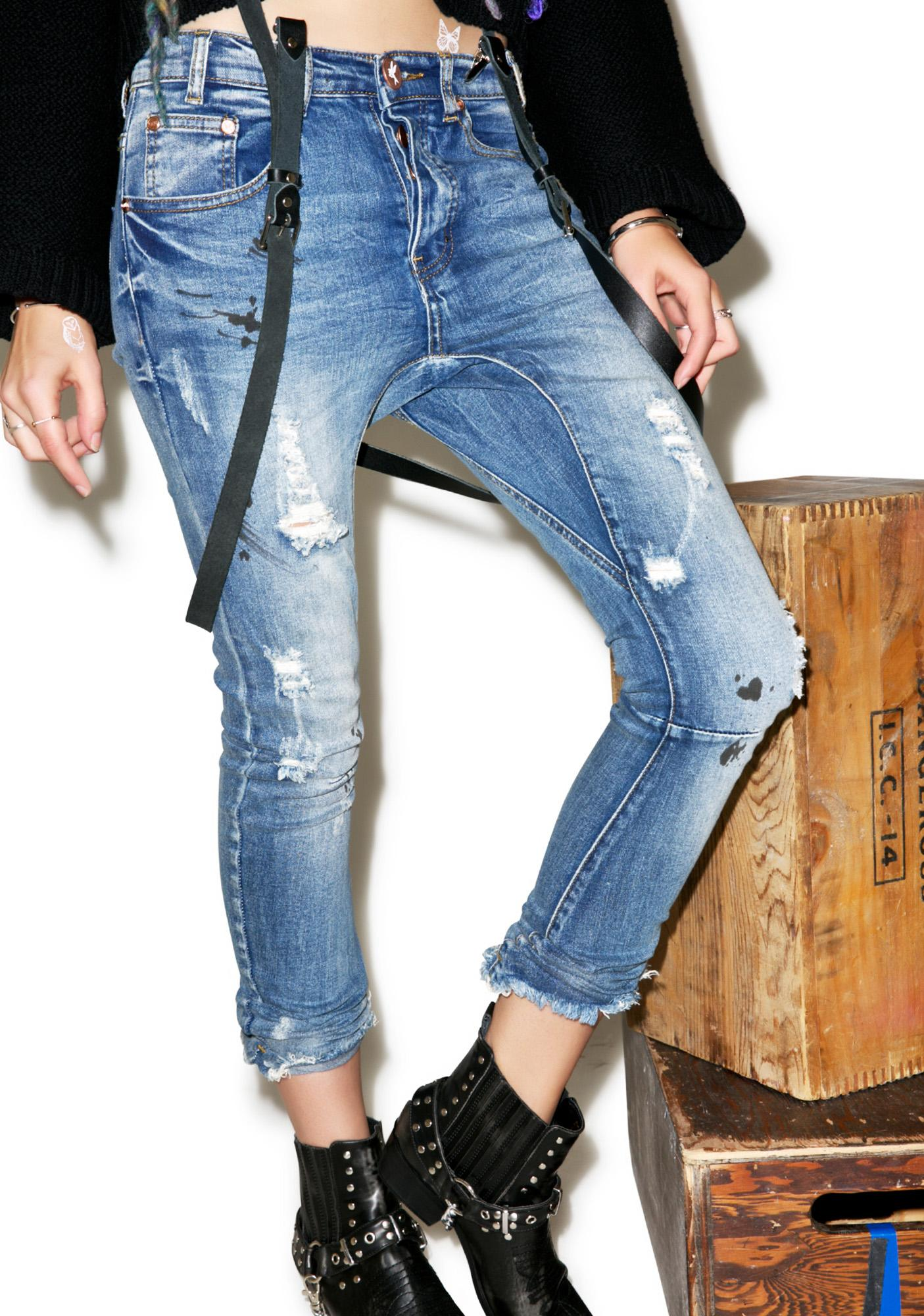 One Teaspoon Kidds Distressed Jeans