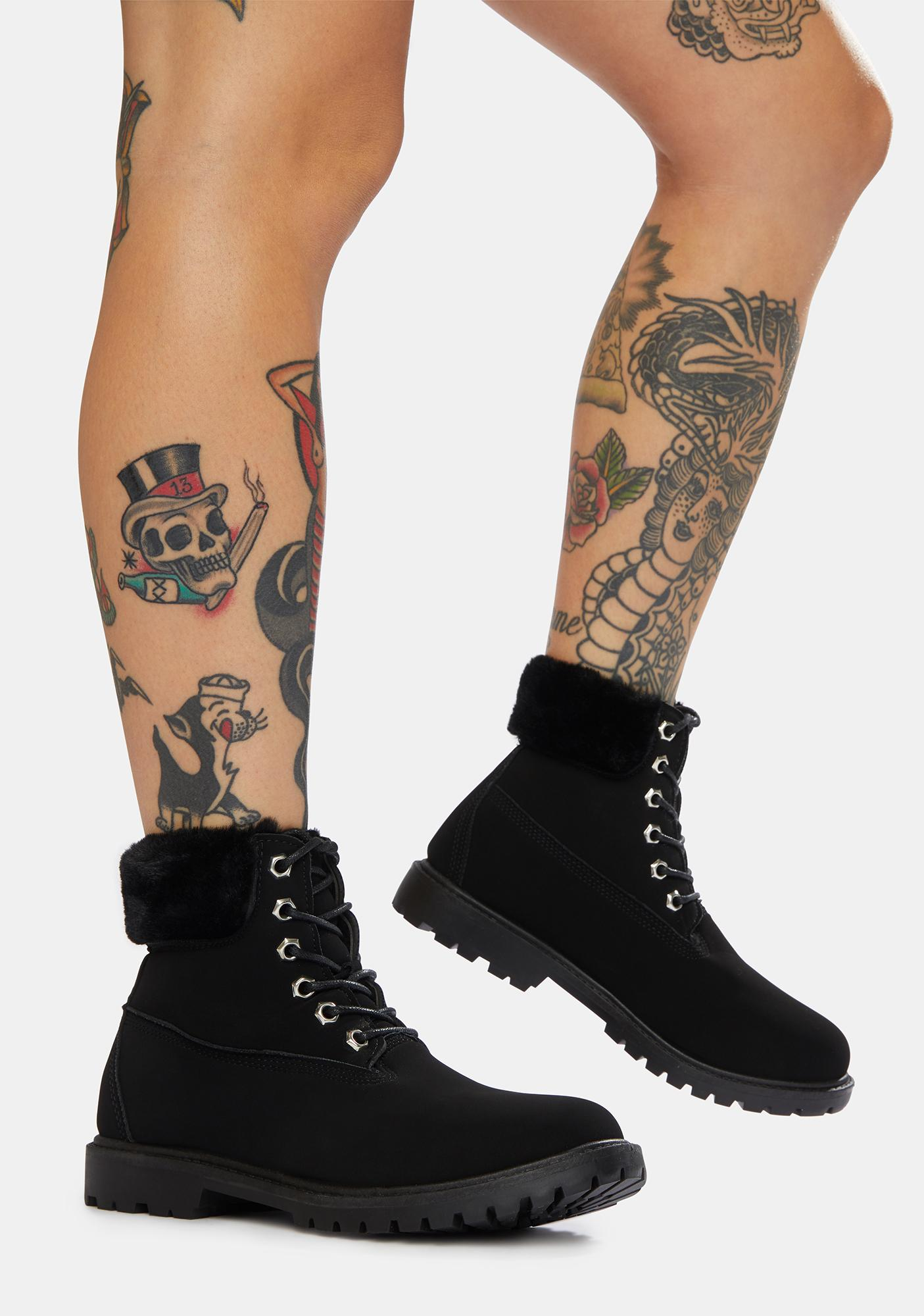 Midnight Stomp The Town Lace-Up Boots