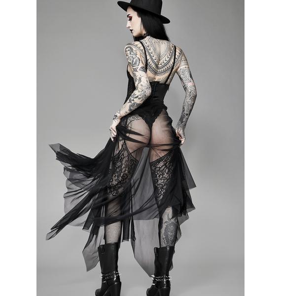 Widow Cryptic Haunt Mesh Maxi Skirt