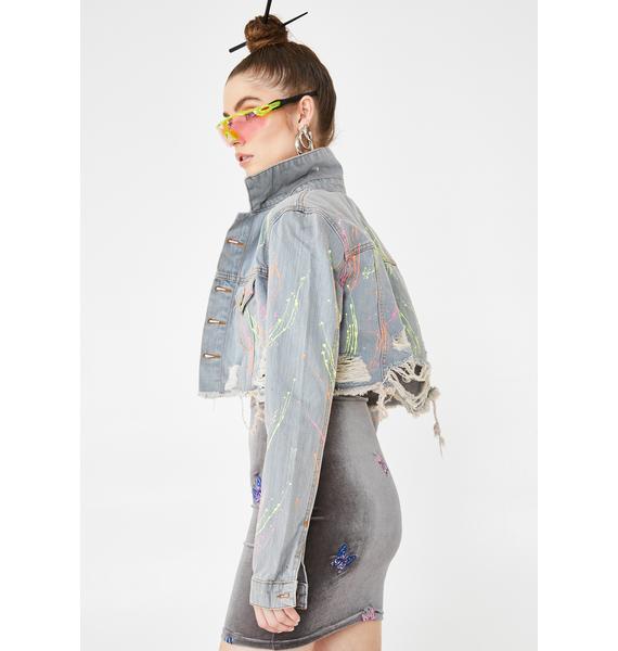 Kiki Riki On Blast Denim Jacket