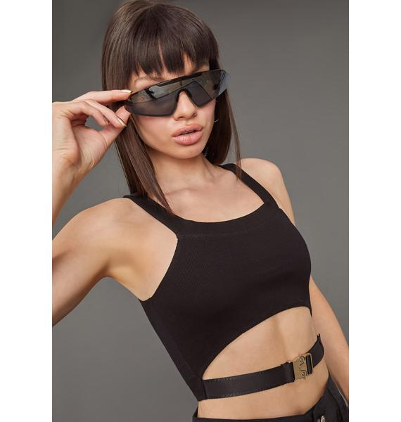 Poster Grl No Limits Cropped Buckle Tank