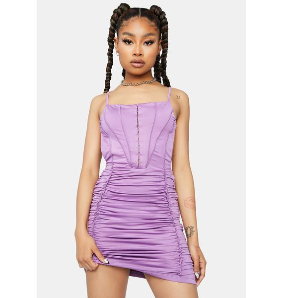 Lavender Five Star Flavor Ruched Bodycon Dress