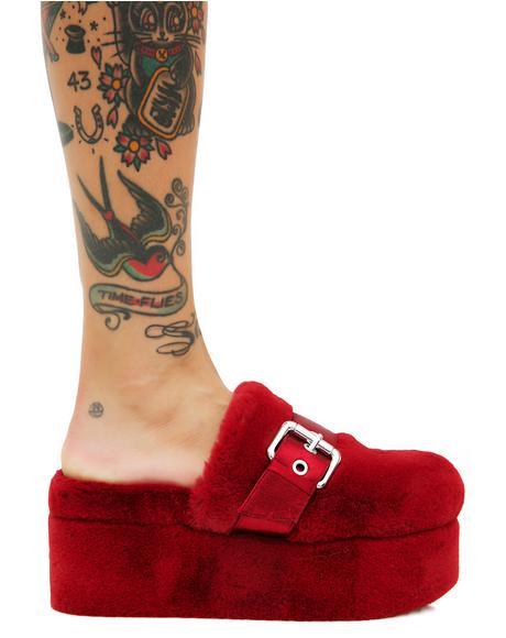 Furry Slip-Ons