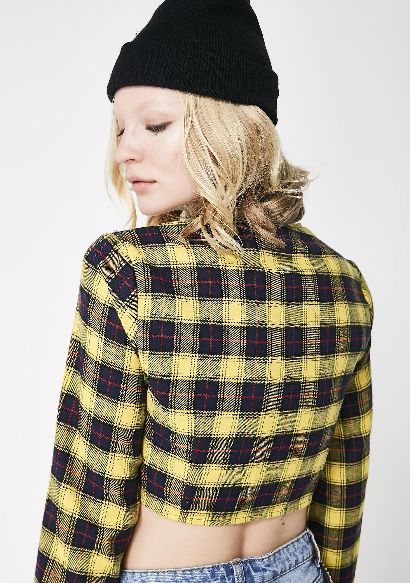 Glamorous Chill Later Tartan Crop Top